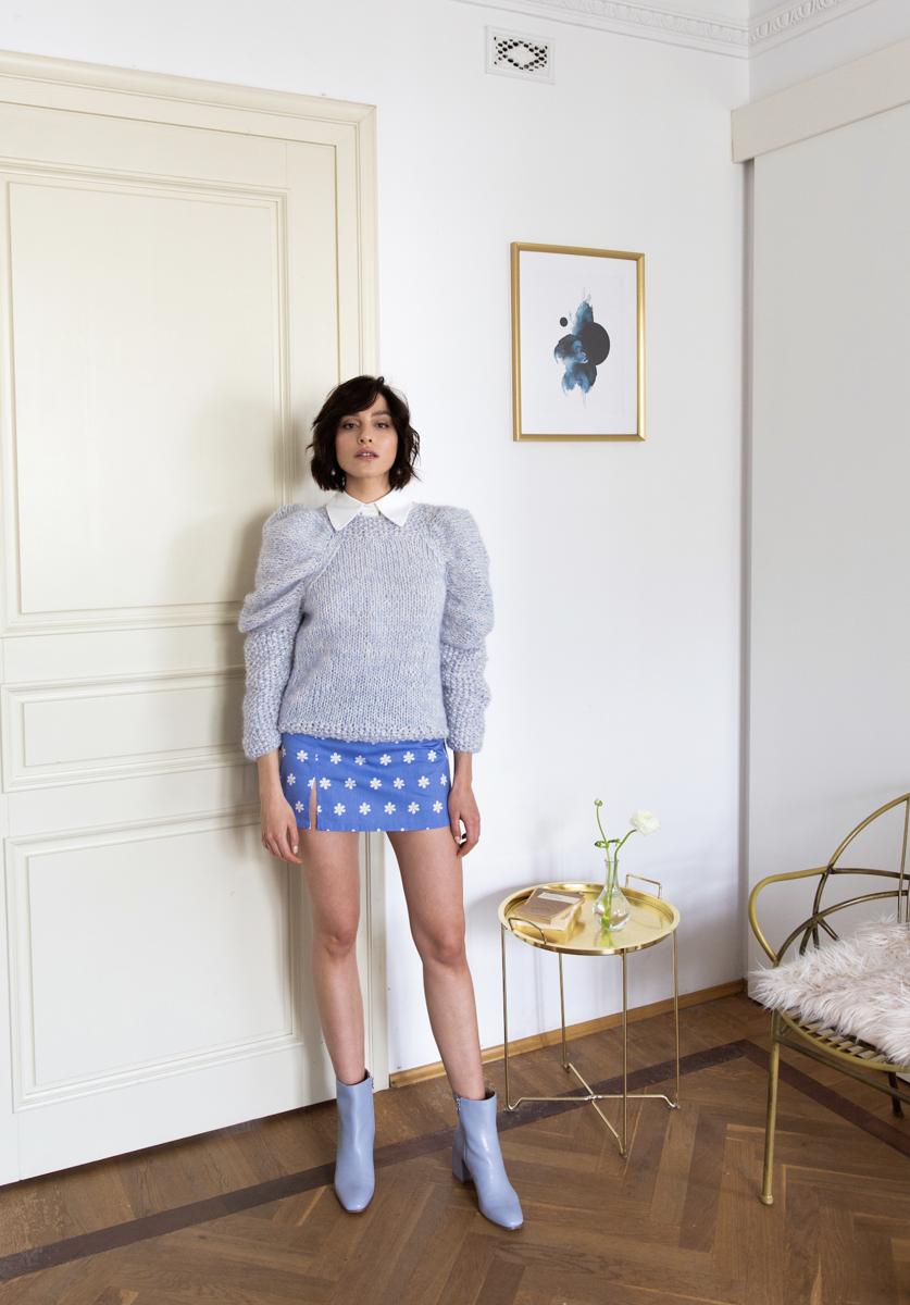 Sweter błękitnoniebieski ROTIKA no.1
